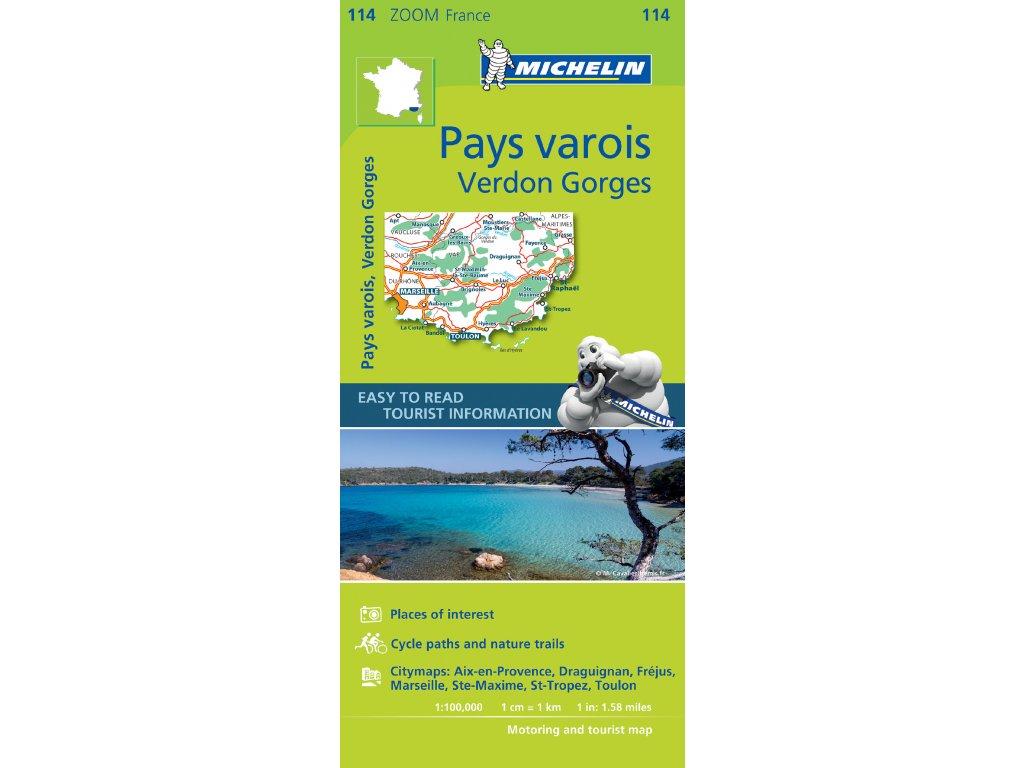 MK 114 Pays varois, mapa  1:100t