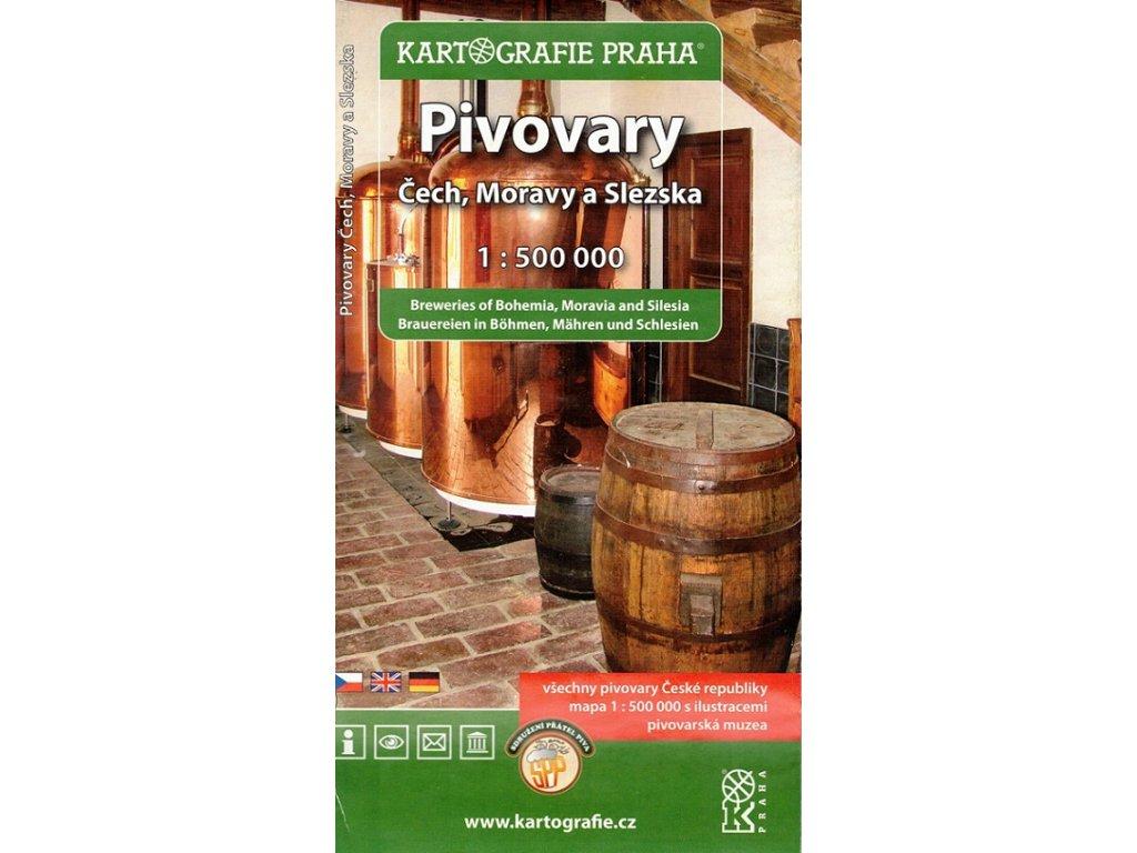 Pivovary Čech,Moravy../mapa 1:500t KP