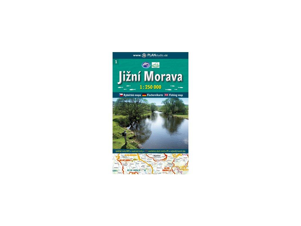 Rybářská mapa J.Morava 1:250t PlanStudio