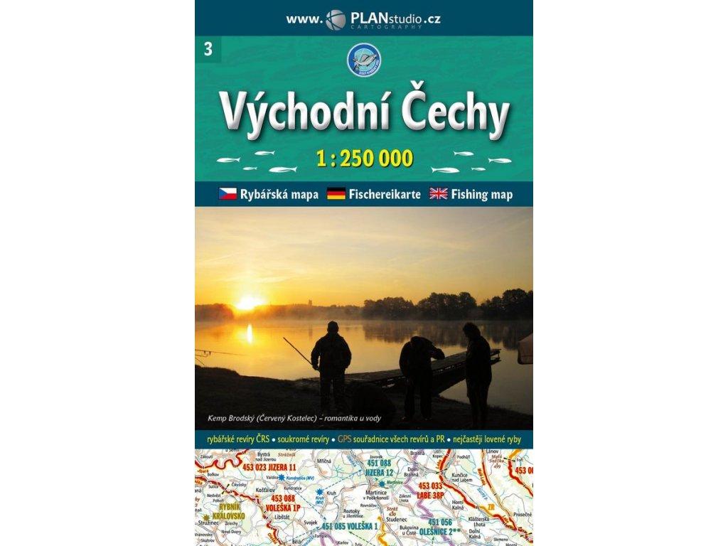 Rybářská mapa V.čechy 1:250t PlanStudio