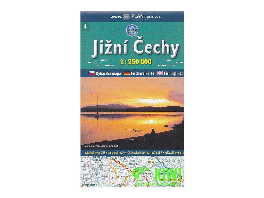 Rybářská mapa Jižní čechy 1:250t PlanS.