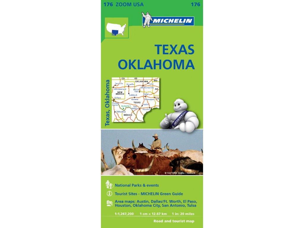 MK 176 USA Texas,Oklahoma, mapa 1:1,276 mil / 200 tis