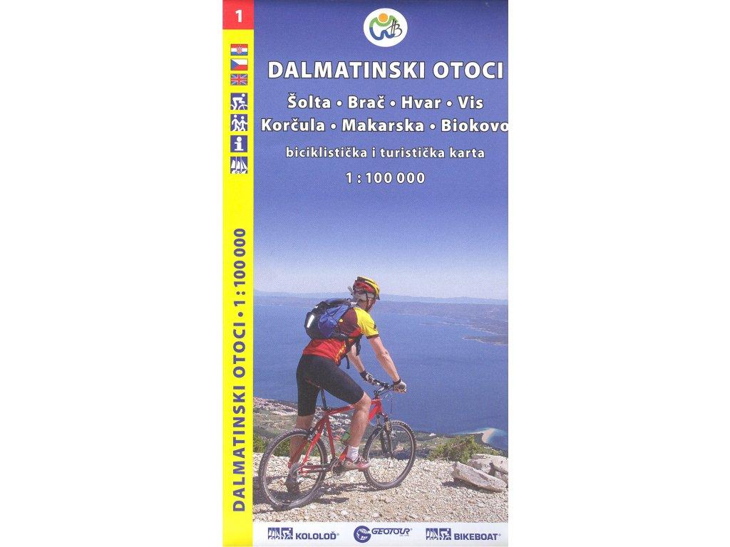 Dalmat. otoci č.1/cyklomapa 1:100t (new)