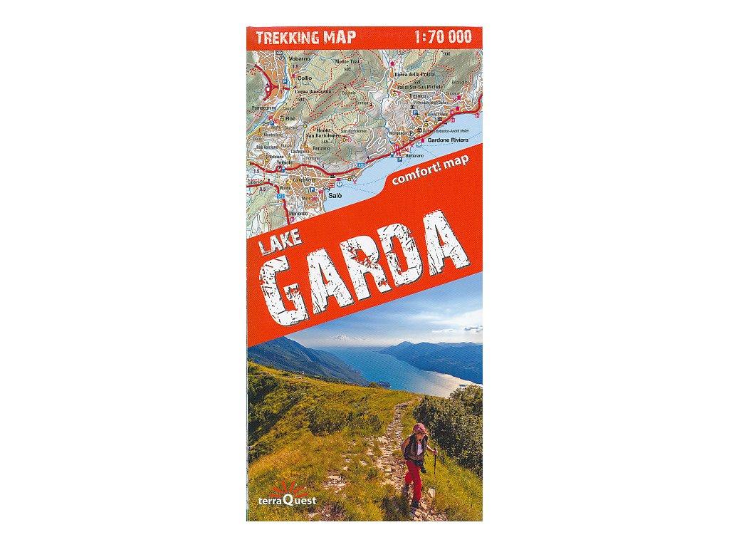Lake Garda jezero/trek.mapa 1:75t lamino TQ