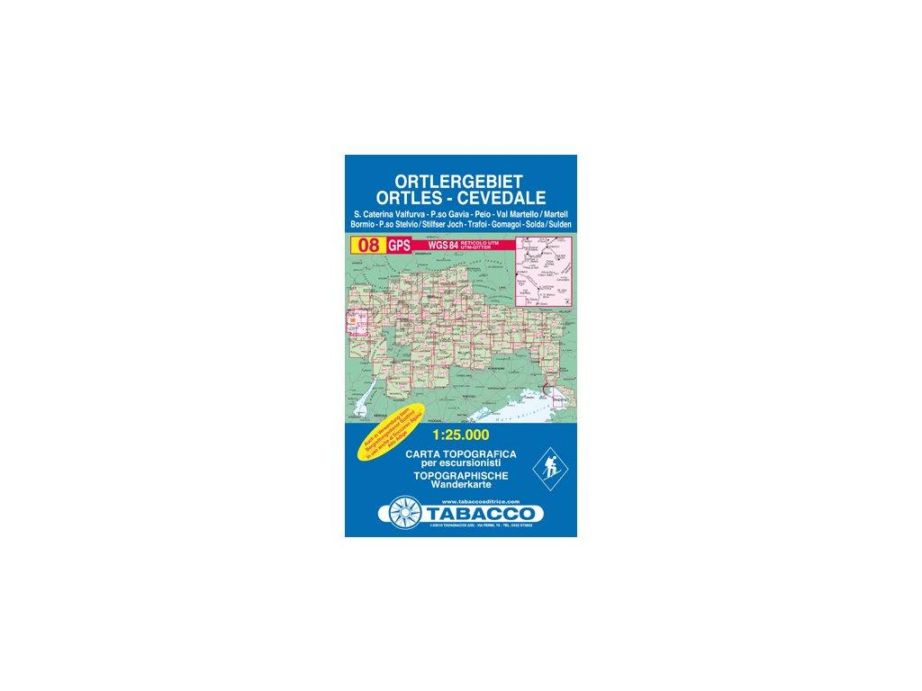 TA08 Ortler,Cavedale /tur.mapa 1:25t