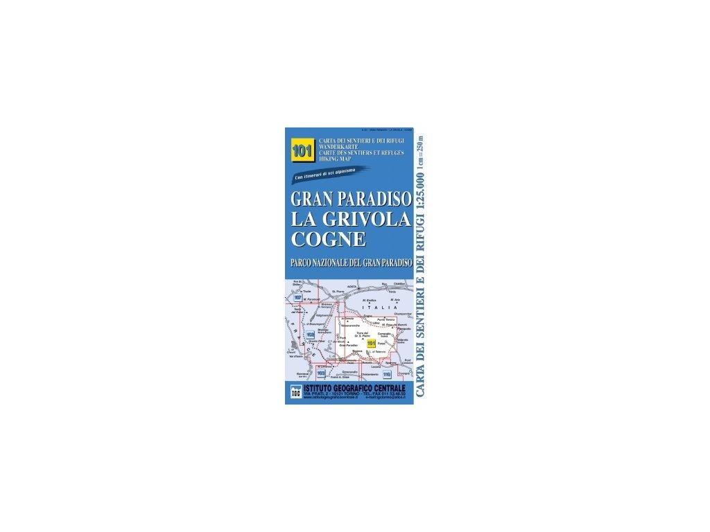 IGC101 Gran Paradiso 1:25t tur.mapa IT