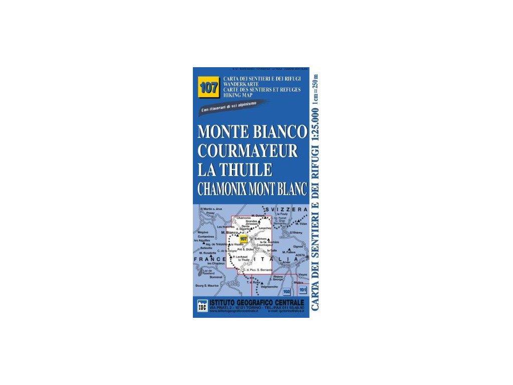IGC107 Monte Bianco.. 1:25t tur. mapa