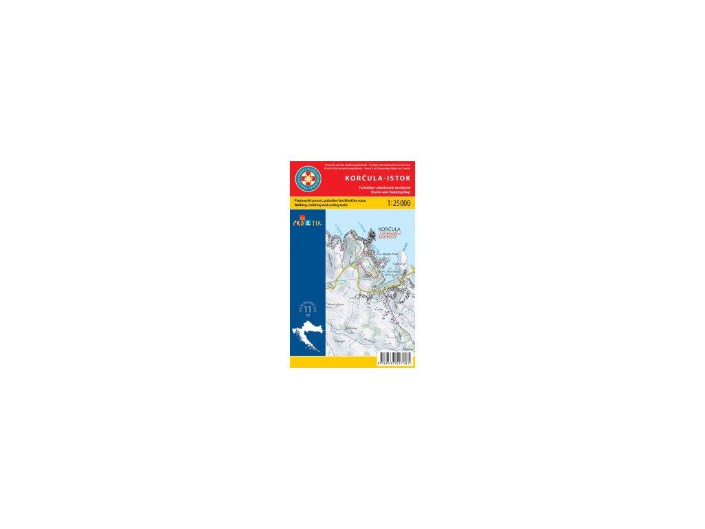Korčula-východ a západ/tur.mapa 1:25t