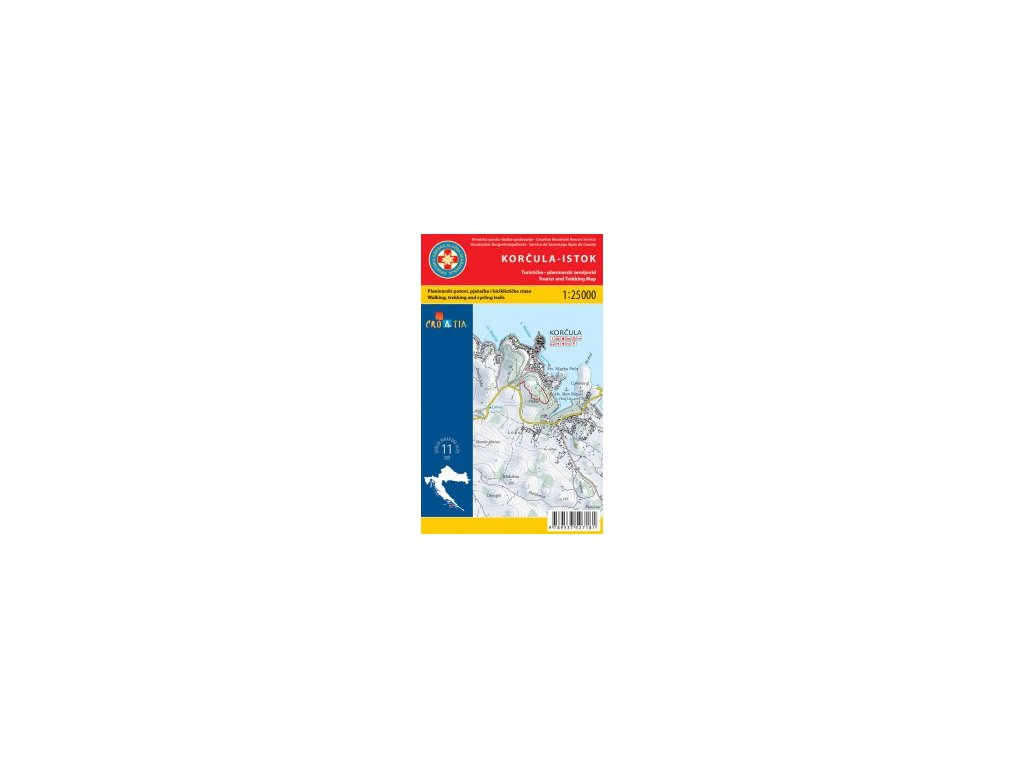 Korčula východ / západ 1:25.000 set dvou turistických map HGSS