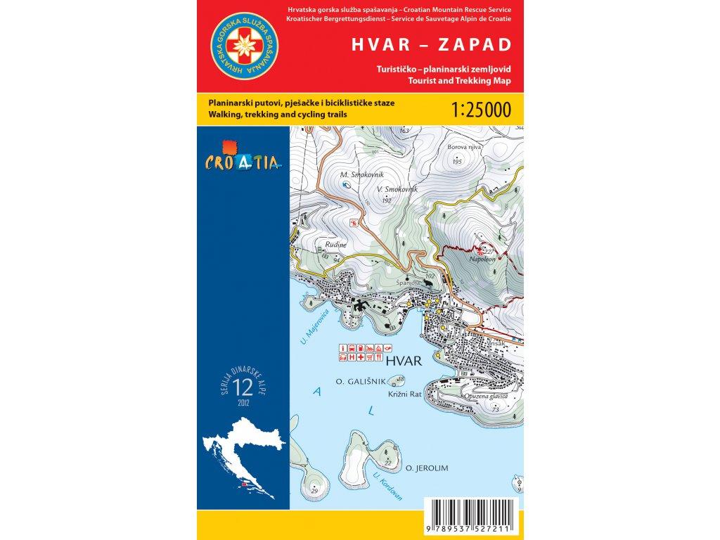 Hvar/tur.mapa-západ 1:25/40t HGSS