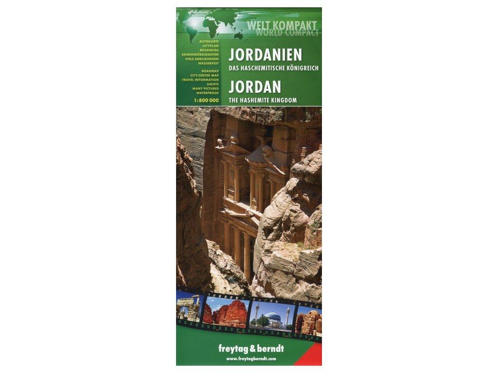 Jordánsko 1:800t/weltkompakt mapa FB