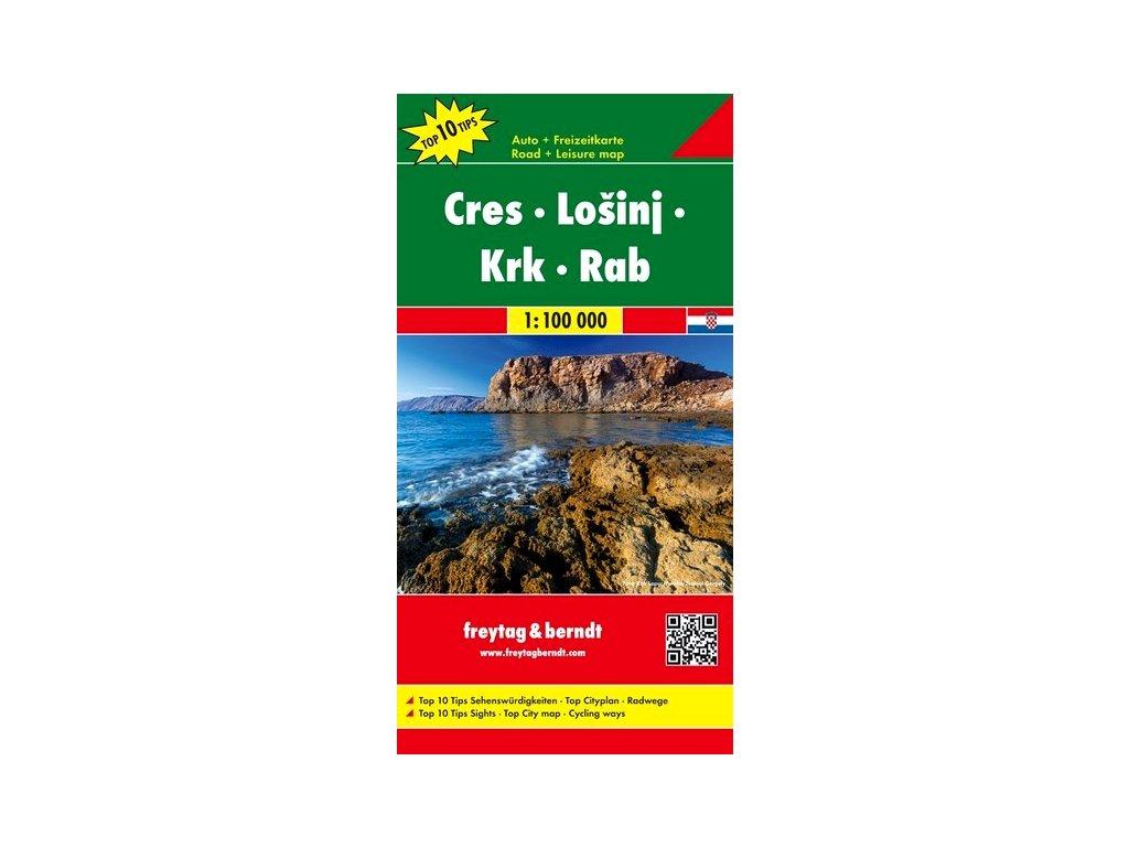 Cres-Losinj-Krk-Rab /mapa FB 1:100t