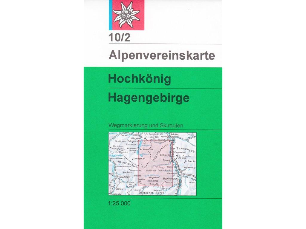 AV10/2 Hochkönig ... mapa 1:50t weg+ski