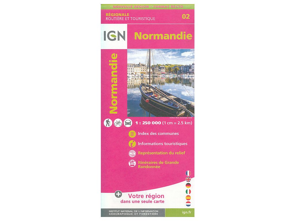 IGN 02 Normandie 1:250tis.