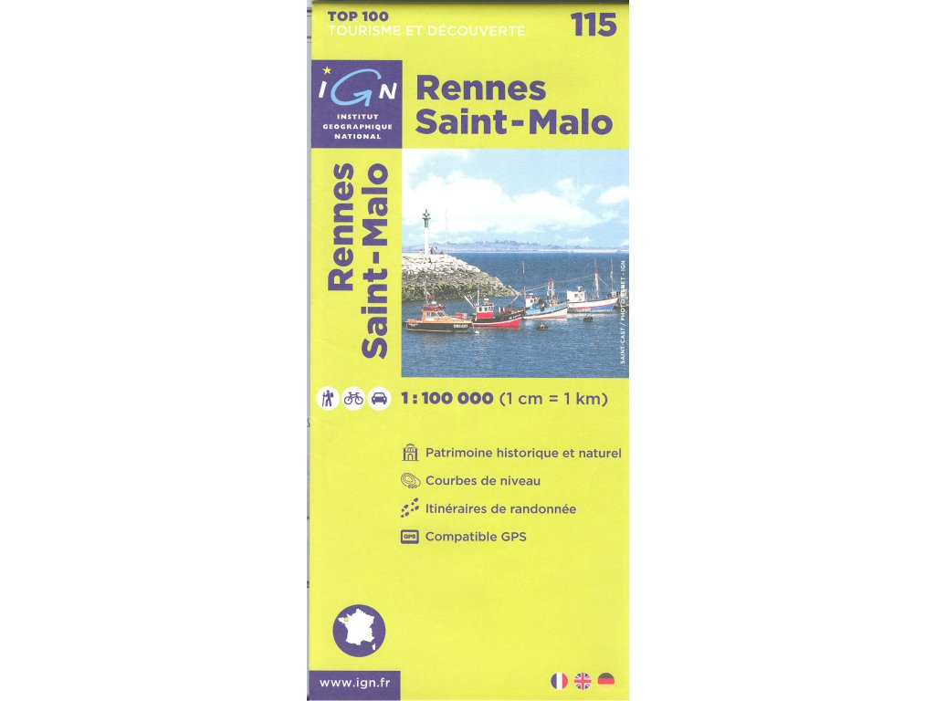 IGN 115 Rennes/St-Malo 1:100t.