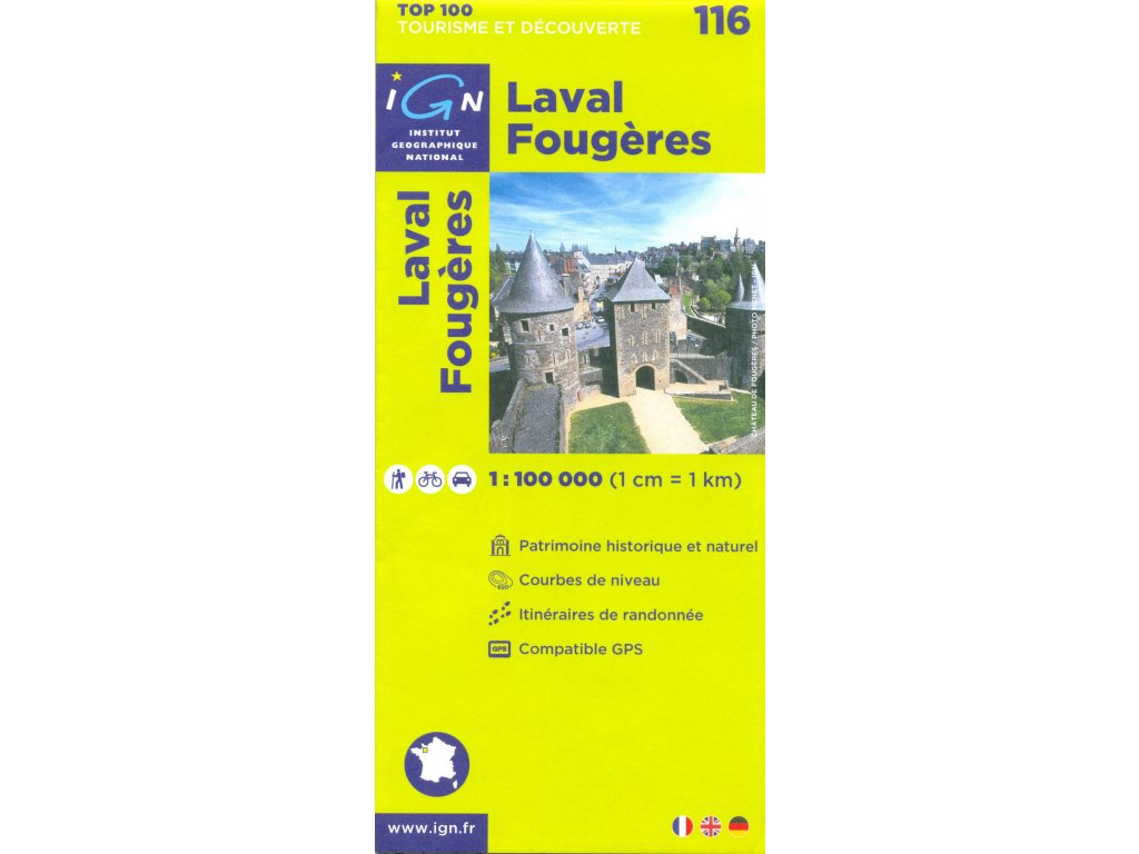IGN 116 Laval Fougeres 1:100tis.