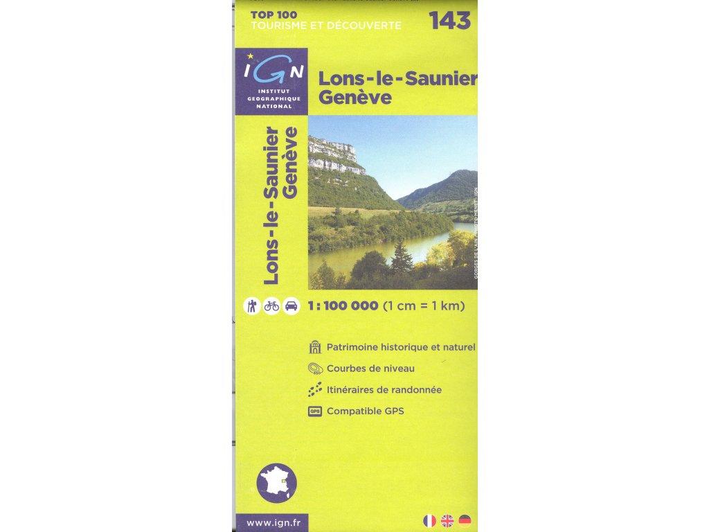 IGN 143 Lons-le-Saunier/Genéve