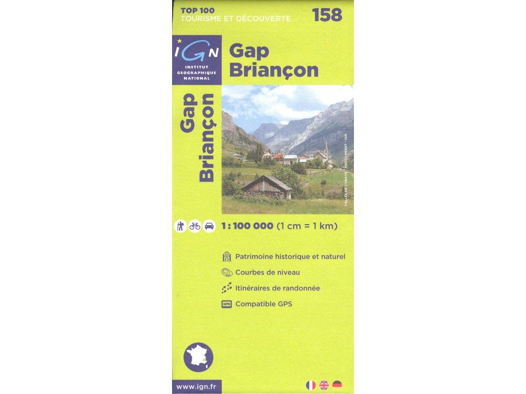 IGN 158 Gap/Briancon 1:100t