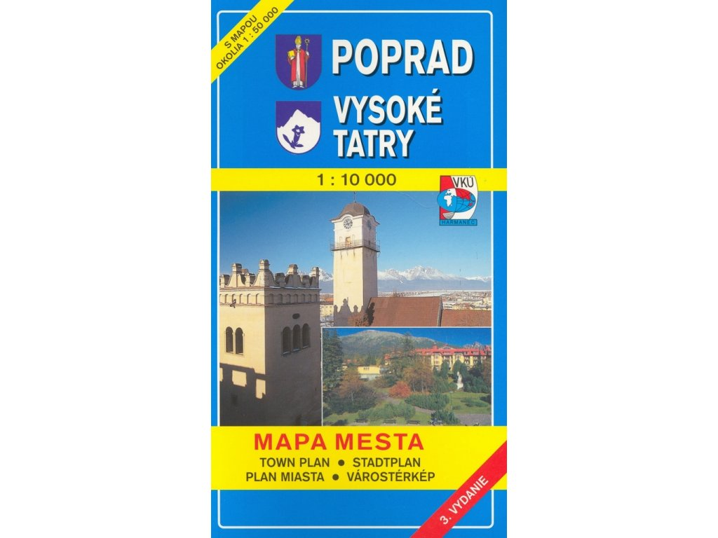 Poprad-Vysoké Tatry/plán, mapa 1:15t/1:100t SC