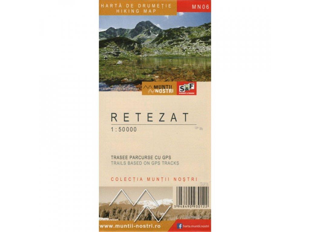 Retezat Mountains/turist.mapa 1:50t Munti Nostri (ROM)