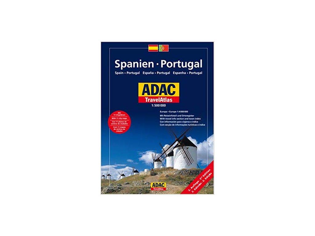 Španělsko,Port./travelatlas 1:500t ADAC