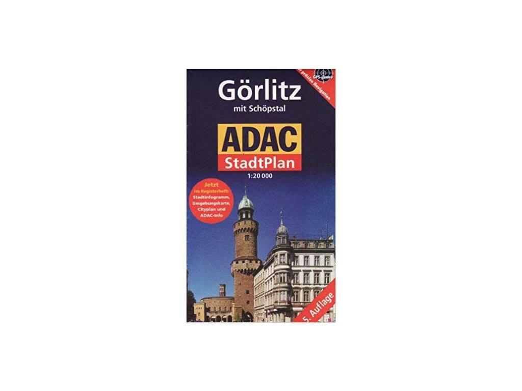 Gorlitz(Zhořelec)/plán, mapa  města 1:20t ADAC