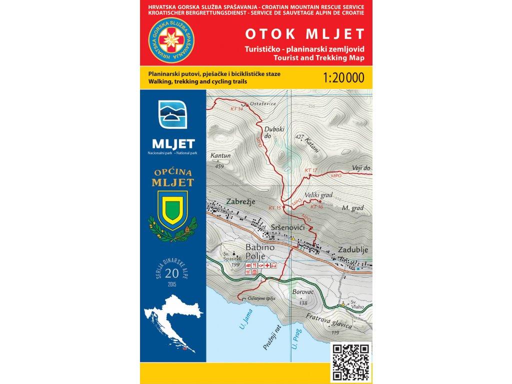 Otok Mljet/tur.mapa 1:20t HGSS