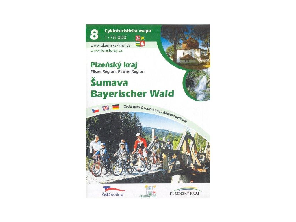 Plz.kraj-cyklomapa č.8-Šumava/Bayer.Wald