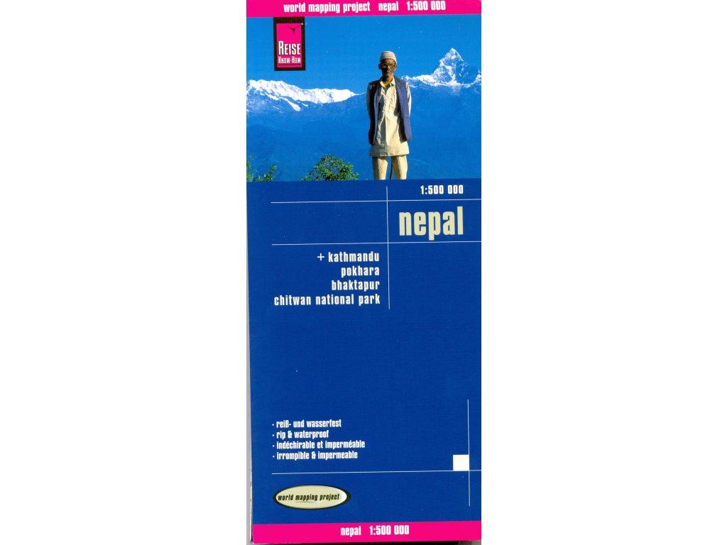Nepál/mapa 1:500t RKH voděodolná