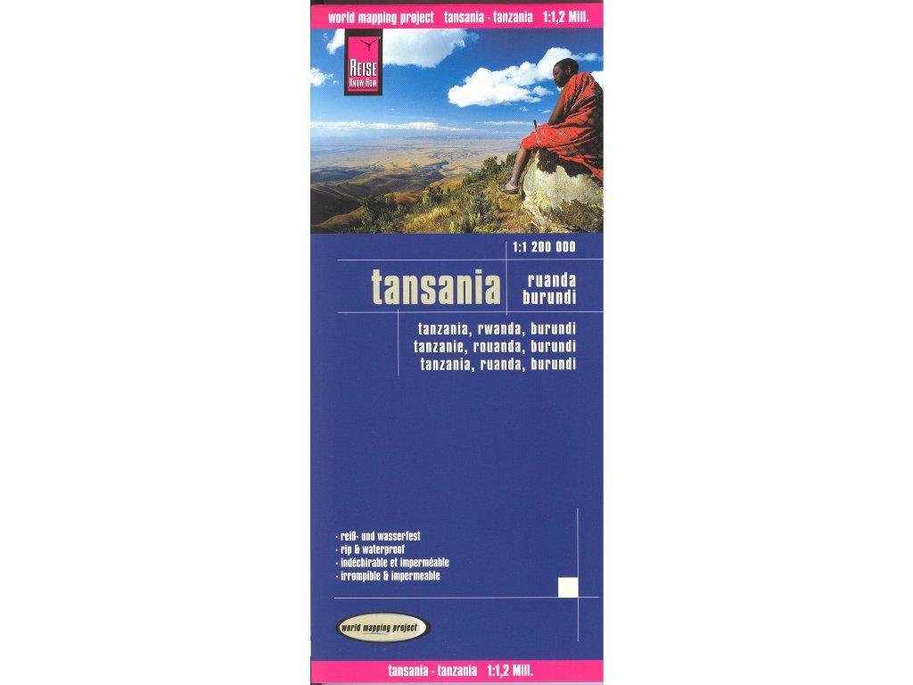 Tanzanie/mapa 1:1,2M RKH