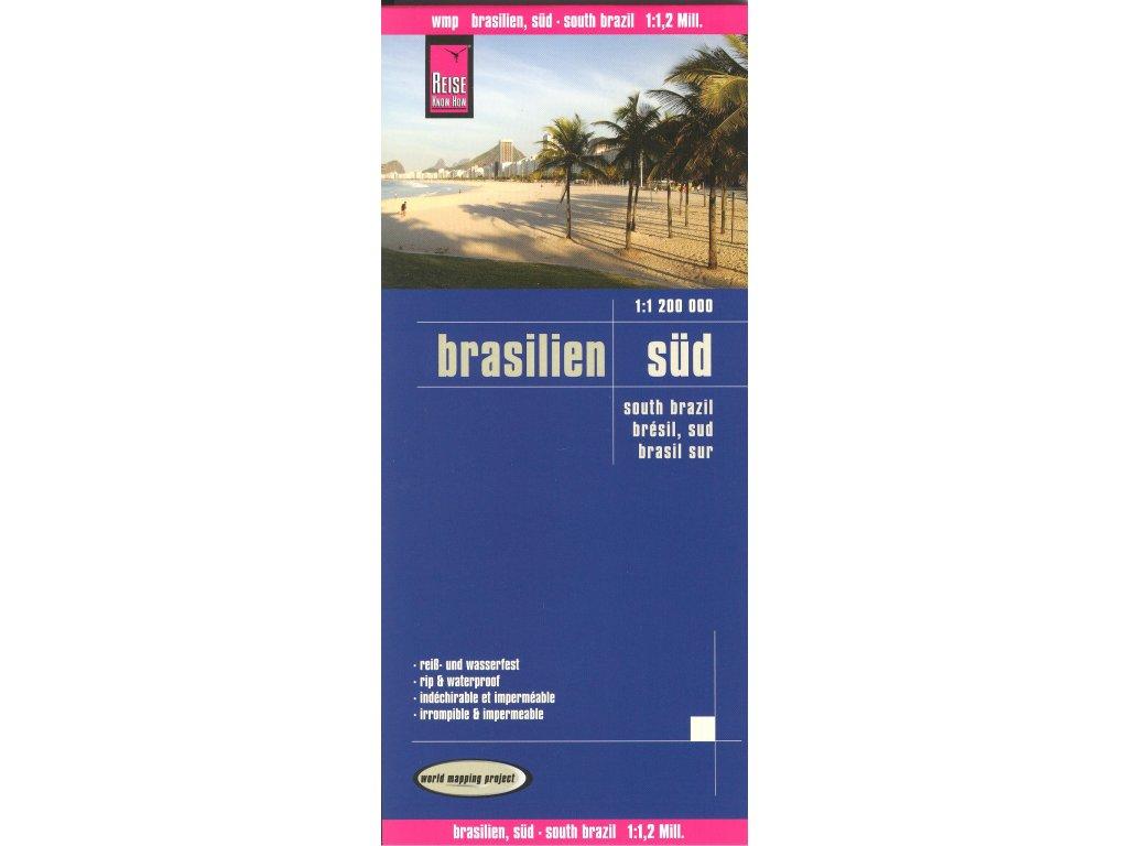 Brazílie jih, mapa  1:1,2 mil RKH