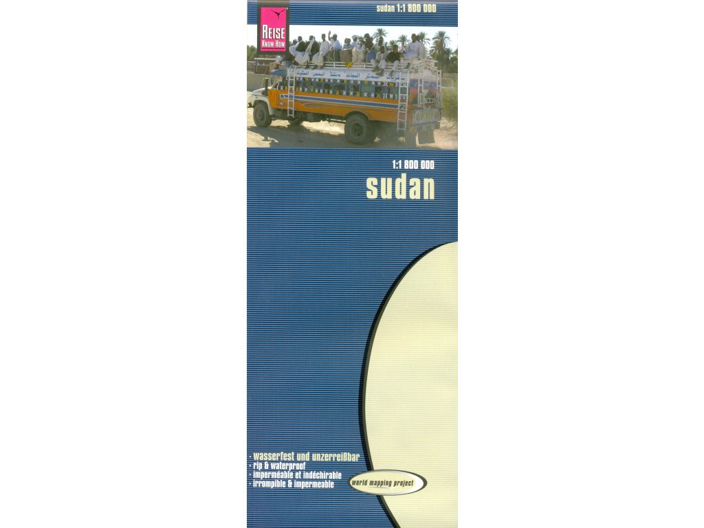 Sudan / mapa 1:1,8mil RKH (wasserfest)