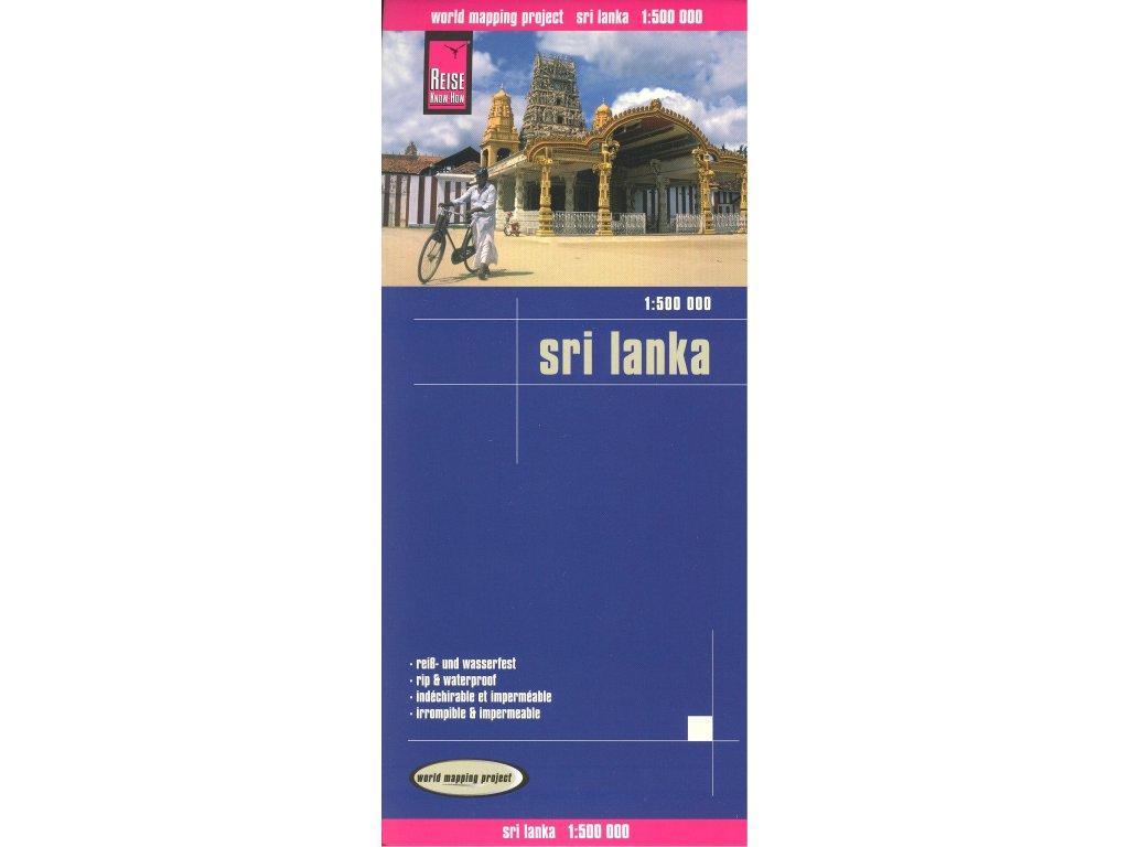 Srí Lanka / mapa 1:500t RKH voděodolná