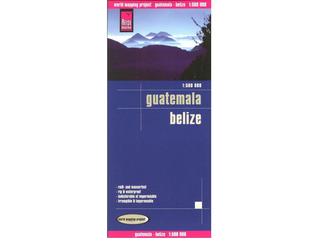 Guatemala-Belize  mapa 1:500T