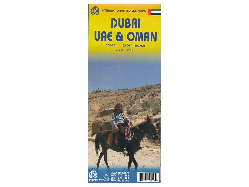 Dubaj 1:15tis. UAE + Omán,  mapa  1:400tis. ITM