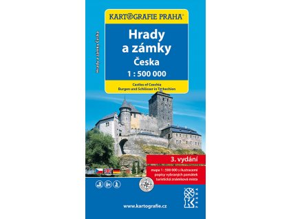 Zámky ČR /nástěnná mapa KP 1:500t 2008