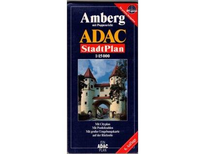 Amberg / plán, mapa  města 1:15t ADAC