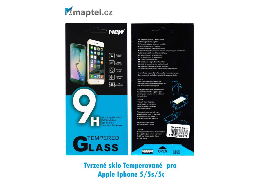 Tvrzené sklo pro Apple Iphone 5/5s/5c
