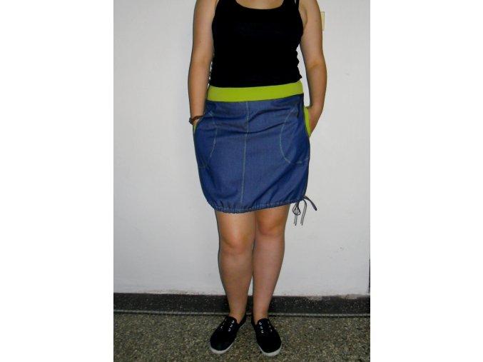 Sukně džínová s lemy