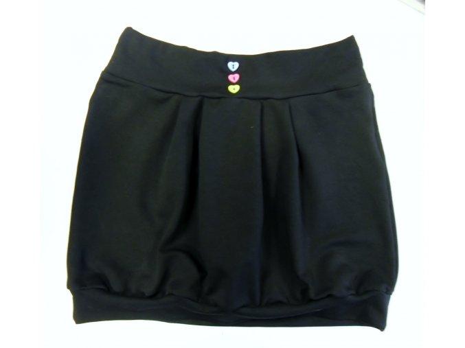 Černá sukně s knoflíčky