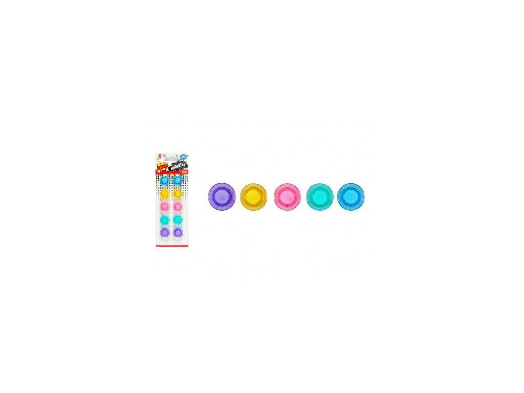 Magnet kulatý barevný 30mm/10ks mix