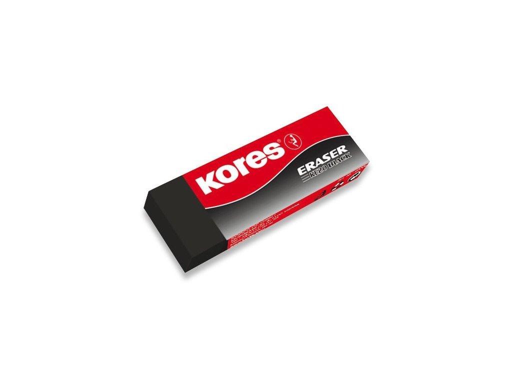 Pryž Kores Eraser KE20 - velká, černá