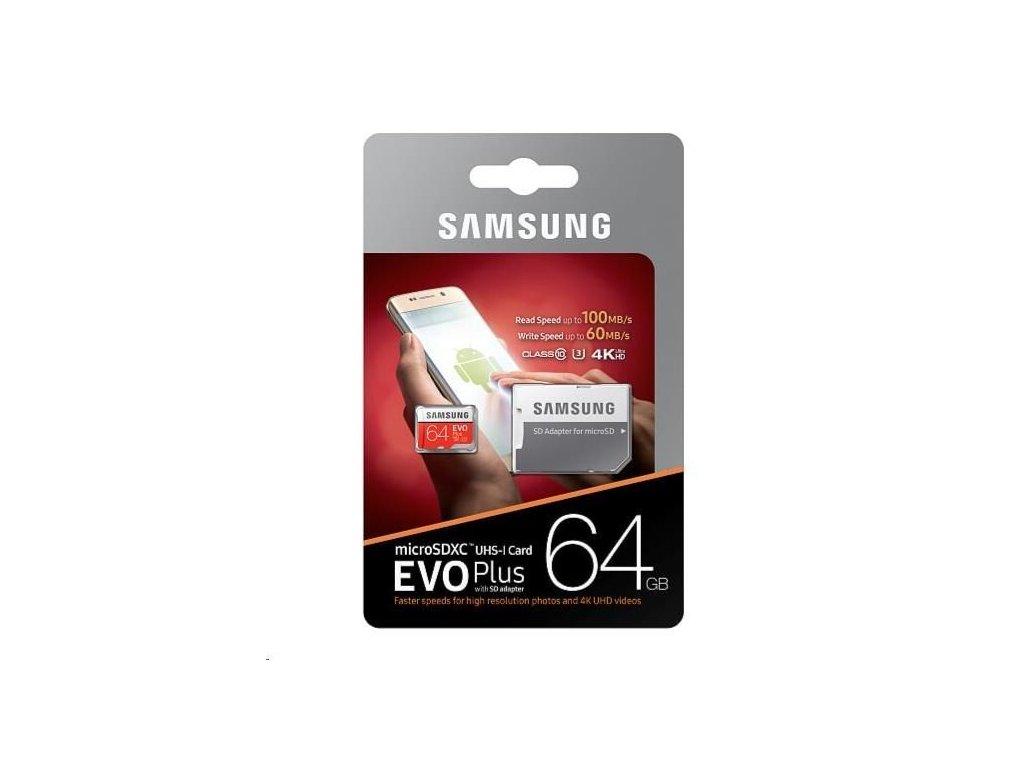 Samsung Micro SDXC karta 64GB EVO Plus