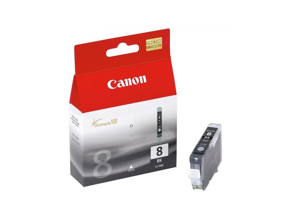 Canon originální ink CLI8BK, black, 940str., 13ml, 0620B001, Canon iP4200, iP5200, iP5200R, MP500, M