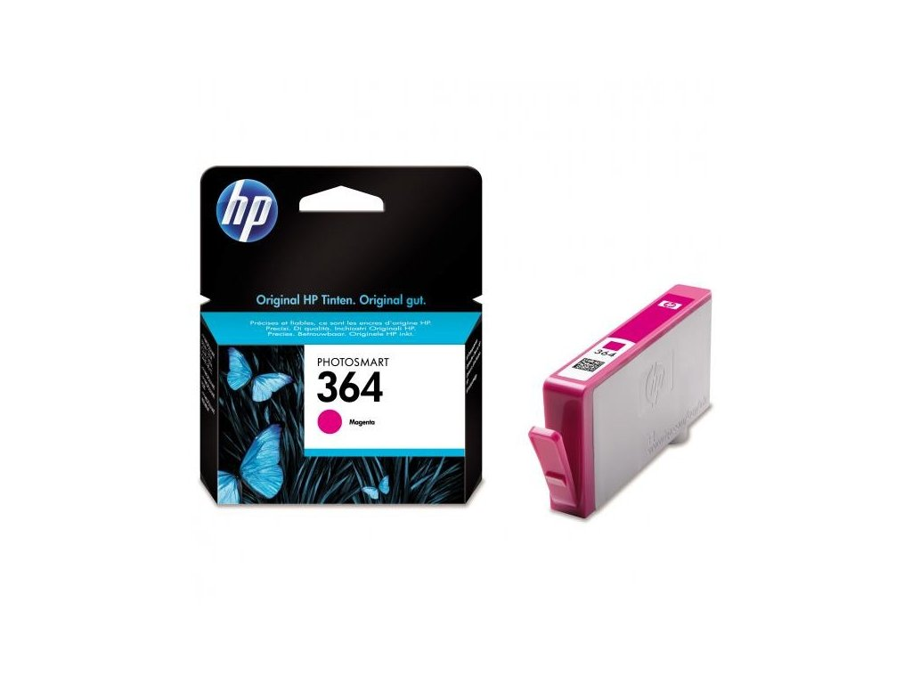 Injekt HP 364, magenta, originální ink CB319EE, No.364, hP Photosmart B8550, C5380, D5460