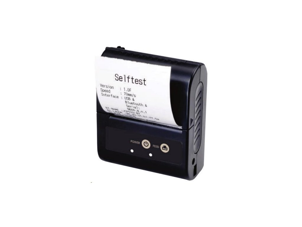 Birch BM-C02 Mobilní tiskárna účtenek, BT, USB, RS232 + POUZDRO