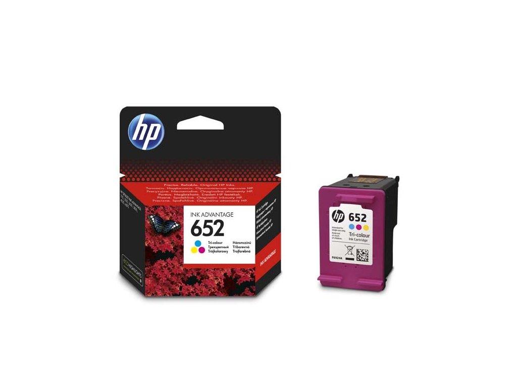 HP originální ink F6V24AE, No.652, color