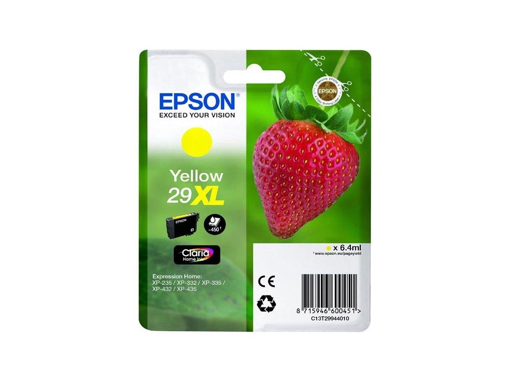 Epson originální ink C13T29944010, T29XL, yellow, 6,4ml, Epson Expression Home XP-235,XP-332,XP-335,