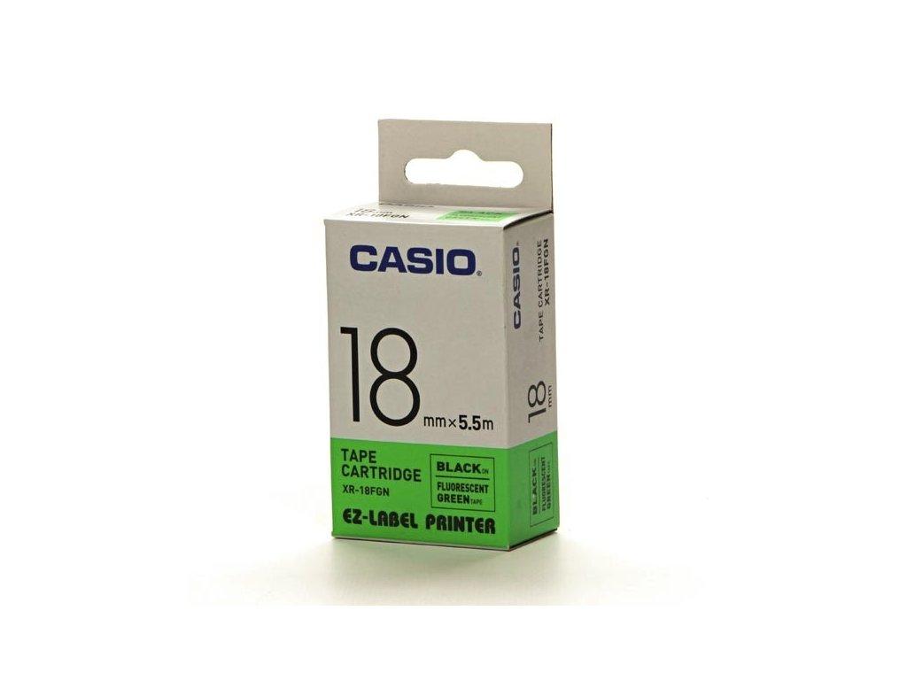 Casio originální páska do tiskárny štítků, Casio, XR 18 FGN