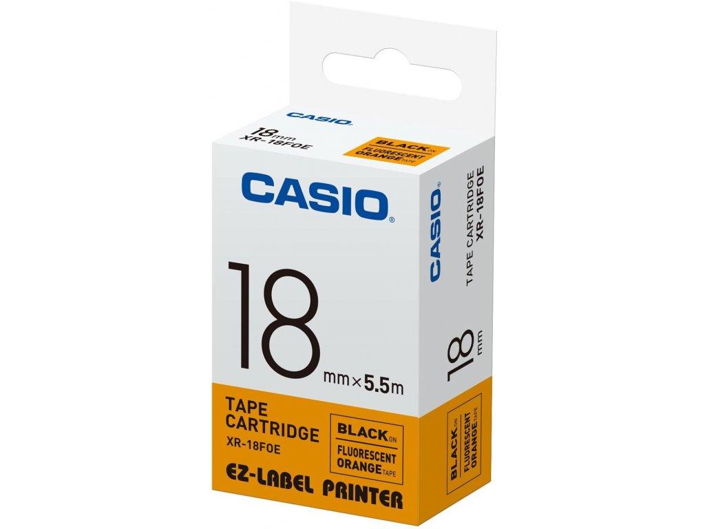 Casio, XR 18 FOE, černý tisk/oranžový podklad